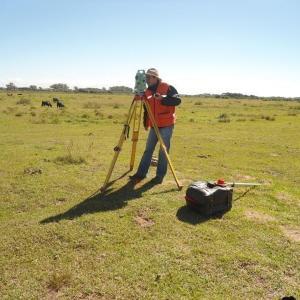 Medição de terreno rural